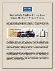 Best Vehicle Tracking System Qatar Ensure The Safety Of Your Vehicle.pdf