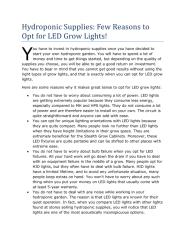 Hydroponic Supplies - Few Reasons to Opt for LED Grow Lights!.pdf