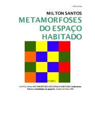 Metamorfose Do Espaço Habitado -  Milton Santos.PDF