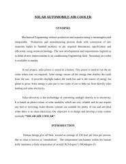 SOLAR AUTOMOBILE AIR COOLER.doc