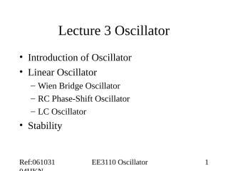 L03 Oscillators.ppt