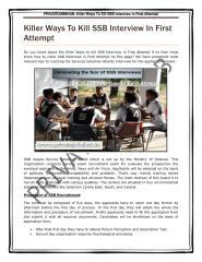 Killer Ways To Kill SSB Interview In First Attempt.pdf