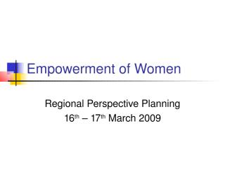 Regional Perspective Planning.ppt