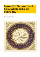 Beautiful Sunnahs of Rasulallah to Do Everyday