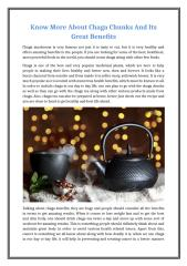 Know More About Chaga Chunks And Its Great Benefits.docx