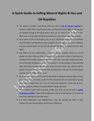 A Quick Guide to Selling Mineral Rights.pdf
