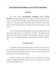 PANTOGRAPH UNIVERSAL GAS CUTTING MACHINE.doc