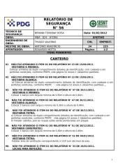 MBA_824 Relatório de Segurança nº 56 - CANTEIRO.doc